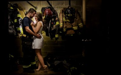 Brooke and Michael- A Memphis Fire Station Engagement Session