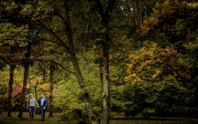 Mollee and Will- A Memphis Botanic Gardens Fall Engagement Session