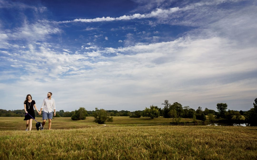 Karen and David: A Shelby Farms Engagement Session