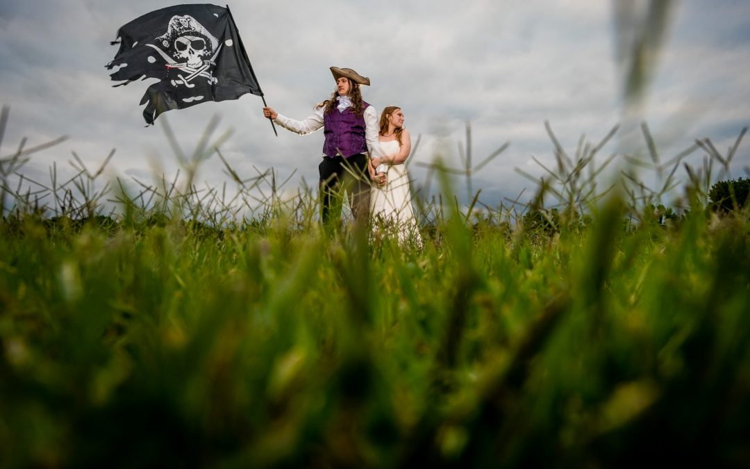 Amelia and Calvin : A Pirate Themed Wedding by Amy Dale